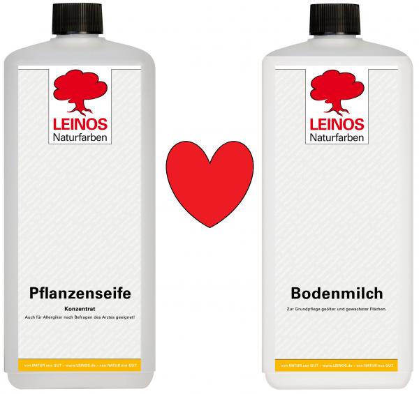 Leinos Pflanzenseife + Leinos Bodenmilch