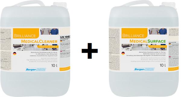 MedicalCleaner + MedicalSurface - je 10 Liter