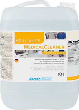 Händedesinfektion- Berger-Seidle Brilliance MedicalCleaner Protect & Care