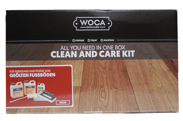 Woca Parkett-Pflegebox mit Pflegeöl